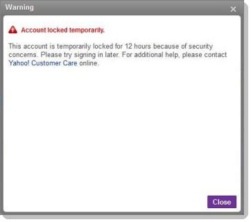 yahoo email locked